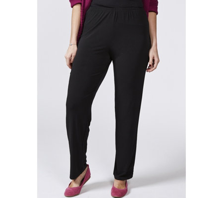 Straight Leg Trousers with Side Vents by Michele Hope