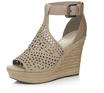 Marc Fisher Hasina Perforated Suede Wedge Shoe - 170488