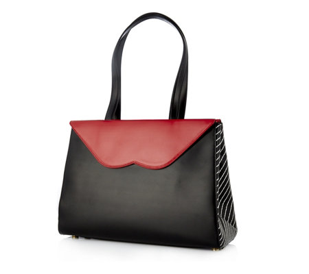 Lulu Guinness Lily Medium Leather Tote Bag