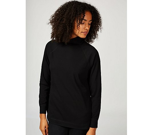 Isaac Mizrahi Live Soho Long Sleeve Polo Neck Top