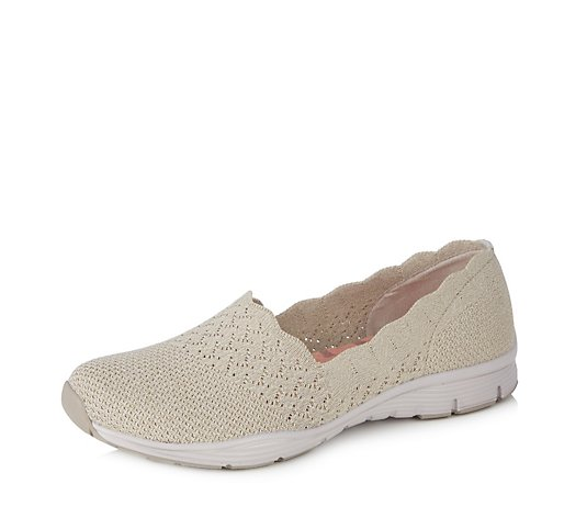 Skechers Seager Stat Knit Scallop Slip on