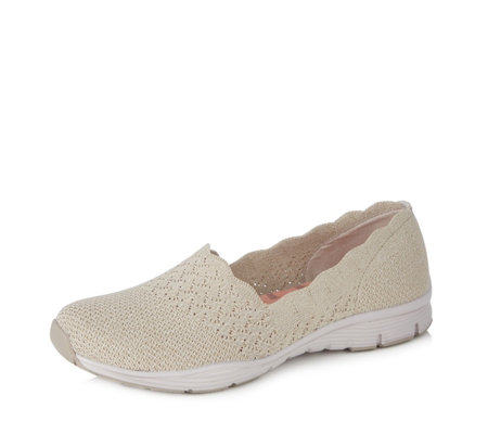 cost charm watch buy Skechers Seager Stat Knit Scallop Slip on - QVC UK