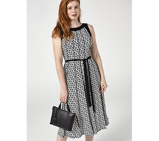 Perceptions Puff Print Dress