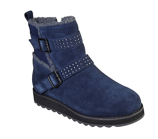 Outlet Skechers Keepsakes Mid Calf Double Buckle Boot with Studs