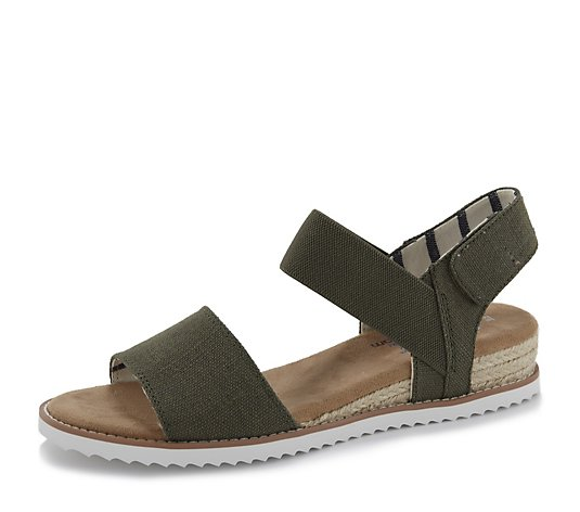 Skechers Desert Kiss Poppy Bloom Canvas Strap Sandal