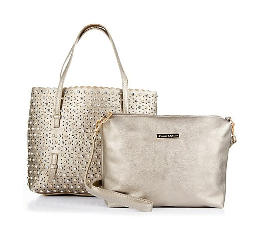 Frank Usher Crystal Tote Bag with Pouch