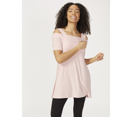 Cold Shoulder Square Neck Tunic by Nina Leonard