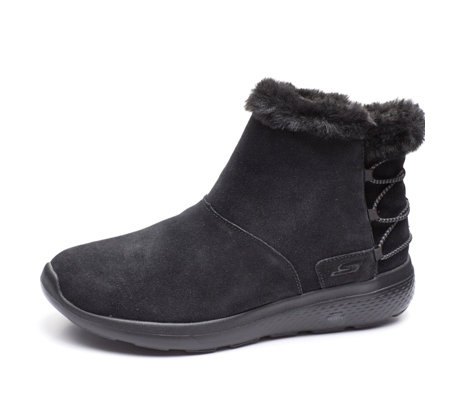 Skechers On the GO City 2 Hibernate Suede Faux Fur Short Boot