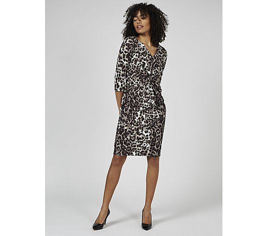 Ruth Langsford Front Knot Detail Animal Print Shift Dress