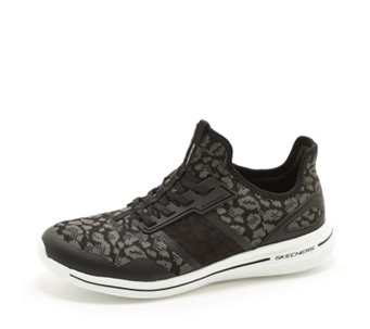 Skechers Burst 2.0 Game Changing Leopard Print Bungee Slip On Trainer - 167690