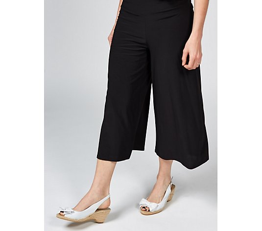 Coco Bianco Cropped Palazzo Trousers