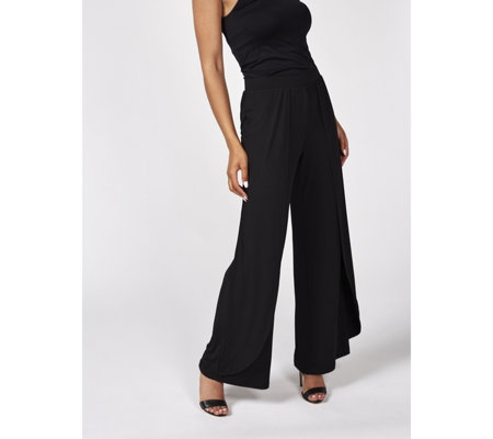 Outlet H by Halston Jet Set Jersey Wide Leg Trousers