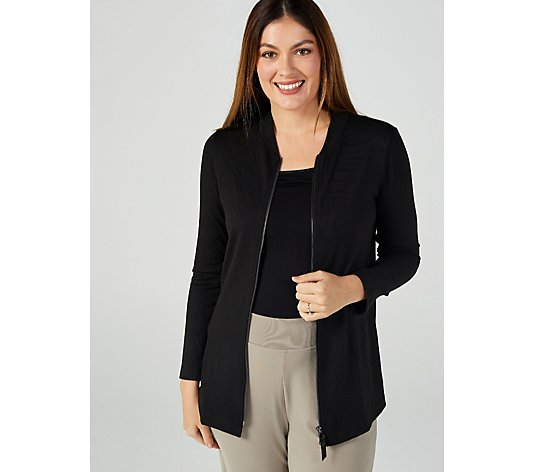 Kim & Co Soft Touch Long Sleeve 2 Way Zip Front Cardigan