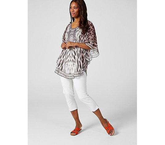 Frank Usher Embellished Lightweight Cover Up