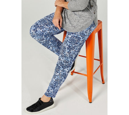 Antthony Designs Printed Pull On Trouser with Pockets