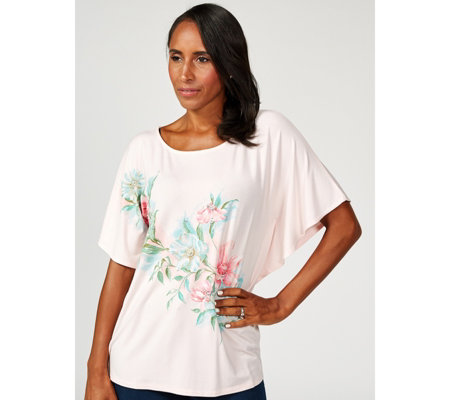Together Placement Print Top with Sequins