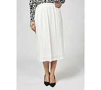 Helene Berman Elastic Waist Pleated Skirt - 171691