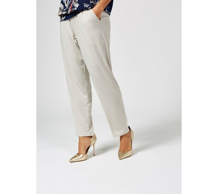 "Kim & Co Brazil Jersey Wide Waistband ""Krissy"" Trouser w/Pockets Regular"