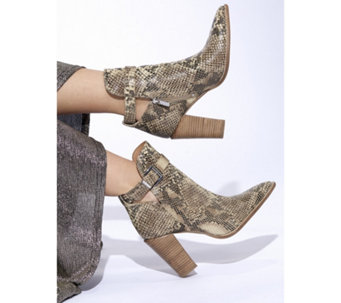 45a52425041e Bronx Snake Effect Buckle Boot - 177791