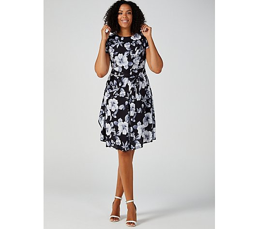 Butler & Wilson Round Neck Floral Print Tie Dress