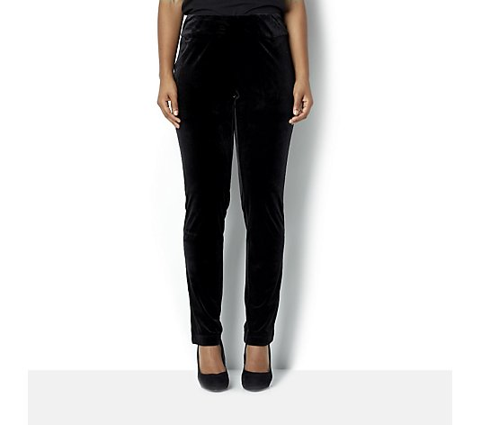 Ronni Nicole Stretch Velvet Straight Leg Trousers