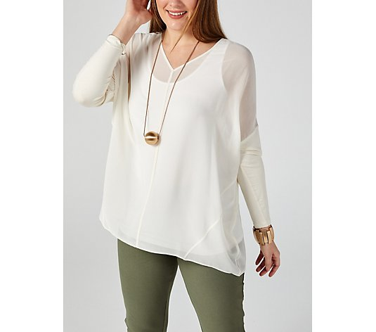 WynneLayers V Neck Oversized Box Top