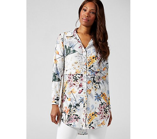 Vintage Floral Shirt by Michele Hope