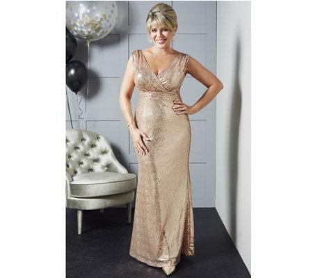 a5c71403ec Ruth Langsford Sleeveless Sequin Floor Length Dress - QVC UK
