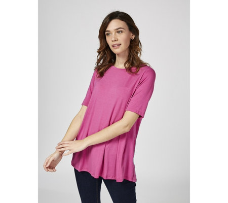 Luisa Conti Luxe High Low Swing Hem T Shirt