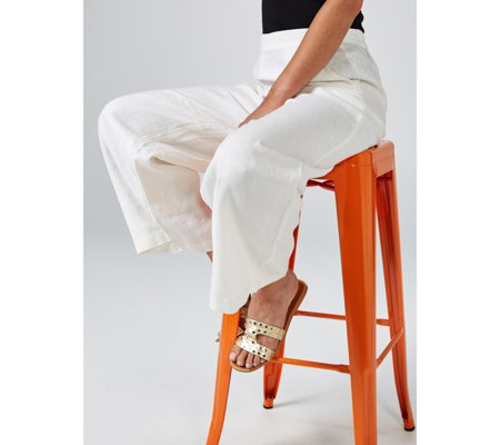 Phase Eight Elasticated Waist Linen Trousers