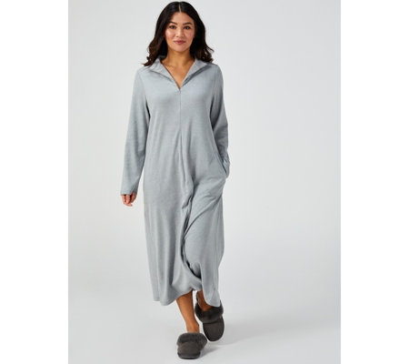 Carole Hochman Cosy Brushed Jersey Knit Zip Lounger
