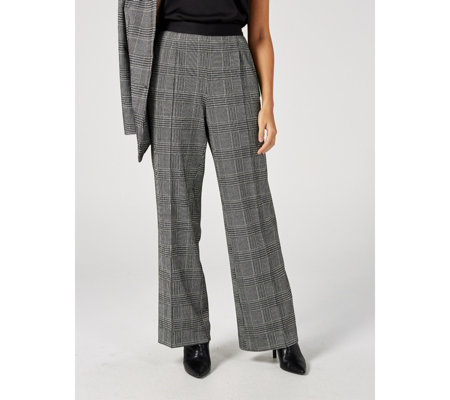 WULI:LUU by Gok Wan Check Palazzo Trousers Petite Length