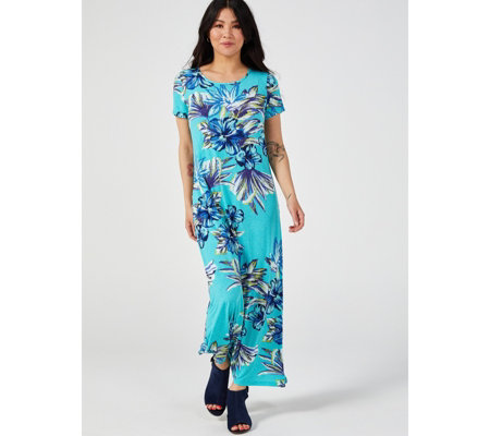 Kim & Co Brazil Jersey Short Sleeve Maxi Dress