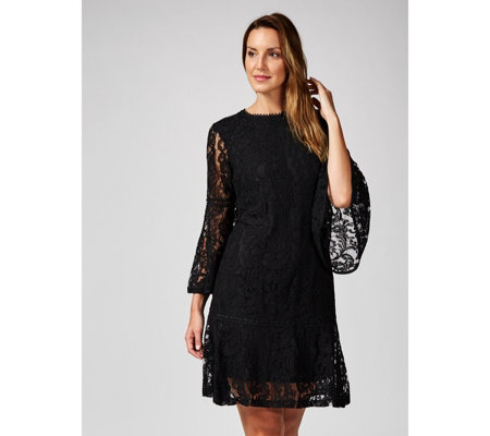 Isaac Mizrahi Live Paisley Lace Dress