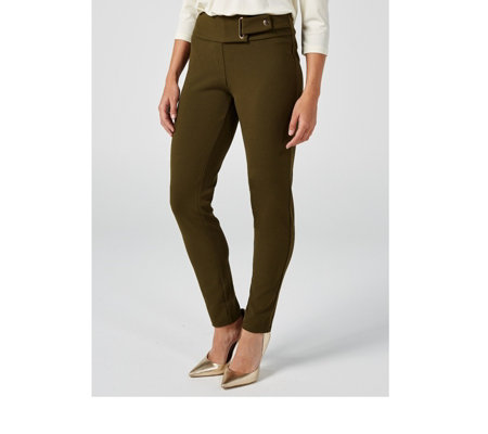 Stretch Crepe Tab Waist Trouser by Nina Leonard
