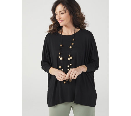 WynneLayers Relaxed Bateau Neck Boxy Top