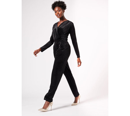 Megan Long Sleeve Jumpsuit by Onjenu London