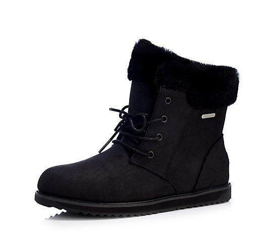 Emu All Weather Shoreline Leather Lo Waterproof Sheepskin Boot