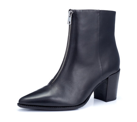 Bronx Zip Front Heeled Boot