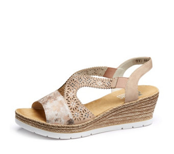 0297eccda663 Rieker Jewel Detail Wedge Sandal - 176395