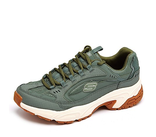 Skechers Stamina Classy Trail Embossed Lace Trainer