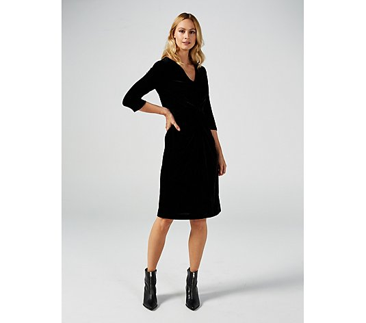 Ruth Langsford Stretch Velvet Dress Regular