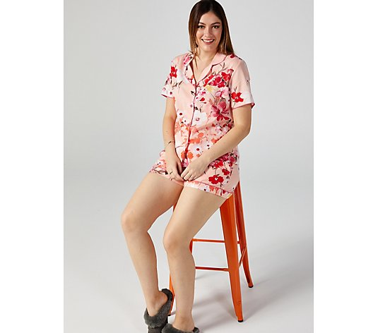 Cyberjammies Botanical Print Short & Top PJ Set