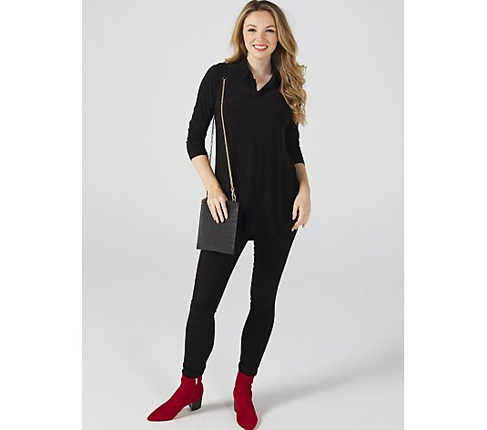 Attitudes by Renee Long Tunic with Shirt Tail Hem