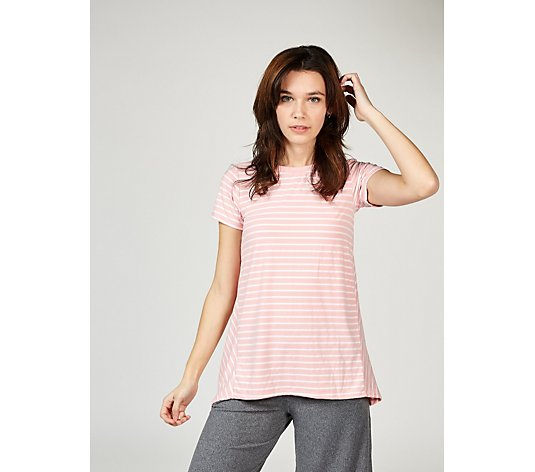Cuddl Duds Short Sleeves Swing T Shirt