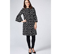 Helene Berman Polka Dot Trumpet Sleeve Coat - 171696