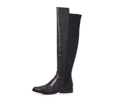 Clarks Daina Rae Over The Knee Leather Boot Standard Fit