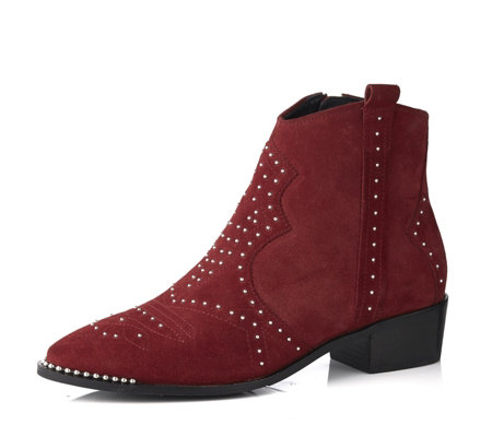 timeless design 63d9d 60644 Bronx Western Suede Ankle Boot - QVC UK