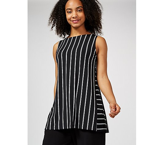 Kim & Co Shadow Stripe Brazil Jersey Sleeveless Tunic