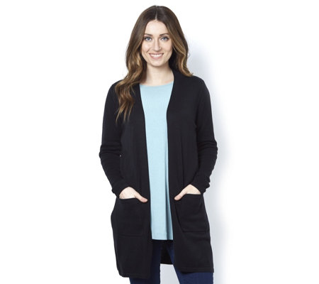Outlet Isaac Mizrahi Live Essentials Open Front Cardigan